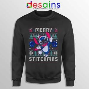 Merry Stitchmas Black Sweatshirt Stitch Ugly Christmas Sweaters