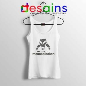Mythosaur Skull Adidas white Tank Top Mandalorian Symbol Tops