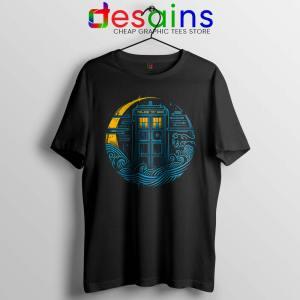 Police Box Dr who Black Tshirt The Traveler Tardis Tee Shirts