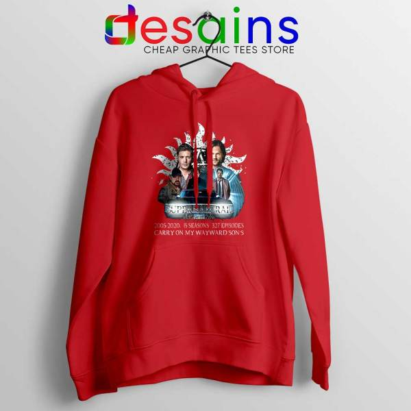 Supernatural Family Red Hoodie Dont End With Blood 4W Jacket