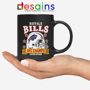 Buffalo Bills White Helmet Mug AFC East Champs