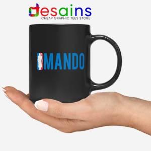 Mando NBA Logo Black Mug The Mandalorian