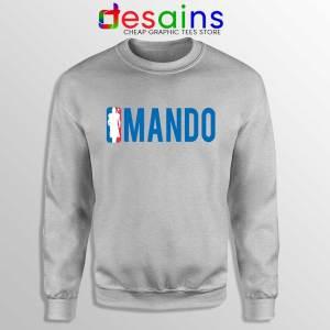 Mando NBA Logo Sport Grey Sweatshirt The Mandalorian