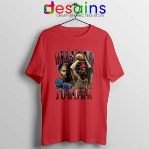 Michael Jordan The Shot Red T Shirt NBA Legend
