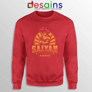 Super Saiyan Workout Red Sweatshirt Goku Gym