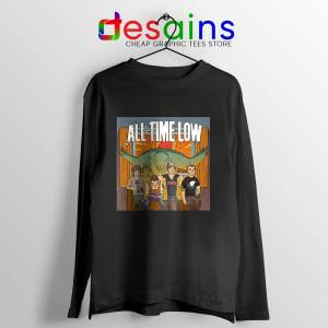 All Time Low Don t Panic Tour Black Long Sleeve Tee Band