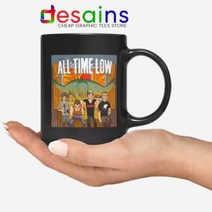 All Time Low Don t Panic Tour Black Mug Rock Band USA