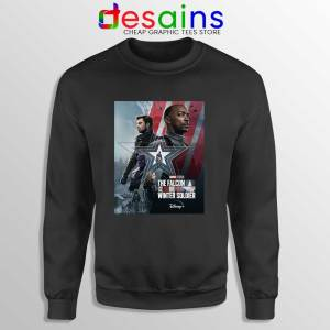 Cheap Falcon and Winter Soldier Black Sweatshirt Marvel Disney+