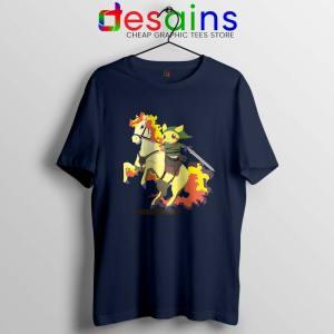 Cute Pikachu Zelda Navy T Shirt Pokemon Game