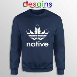 Native American Adidas Navy Sweatshirt Indians Logo