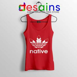 Native American Adidas Red Tank Top Indians Logo
