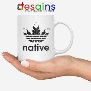 Native American Adidas White Mug Indians Logo