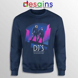 Daft Punk Break Up Merch Navy Sweatshirt Epilogue