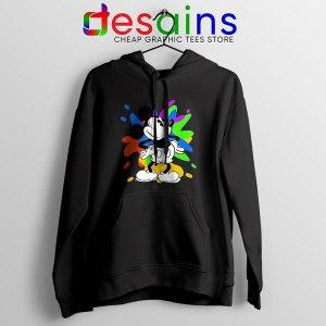 Mickey Mouse On Disney Art Black Hoodie Best Cartoon