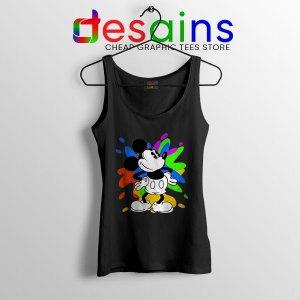 Mickey Mouse On Disney Art Black Tank Top Cartoon