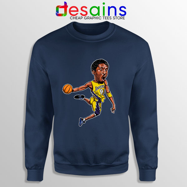 Best Kobe Bryant Game Dunk Navy Sweatshirt NBA Lakers