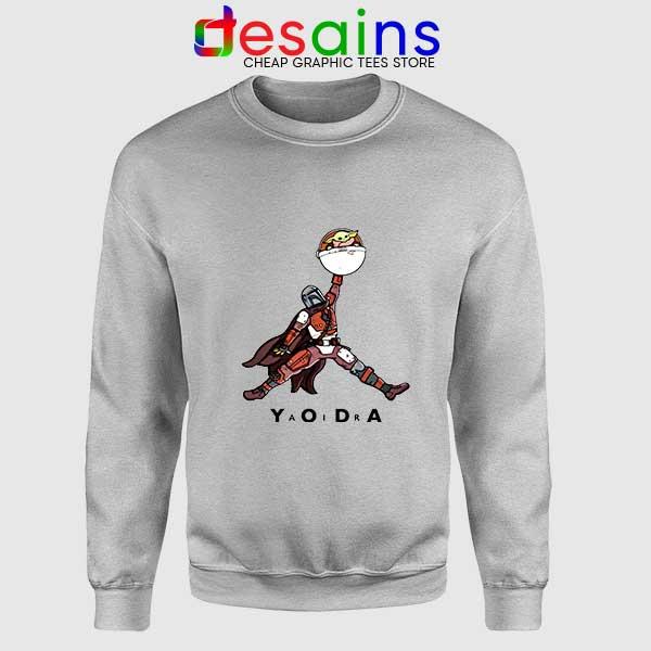 Buy Air Jordan Retro Baby Yoda Sport Grey Sweatshirt Mandalorian
