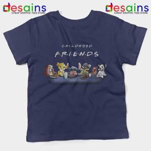 Cartoons Friends Show Navy Kids Tee Childhood TV Series