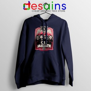 Cat Sabbath Band Navy Hoodie Funny Meow Bands