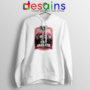 Cat Sabbath Band White Hoodie Funny Meow Bands