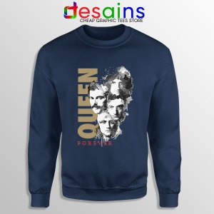 Cheap Forever Queen Band Navy Sweatshirt