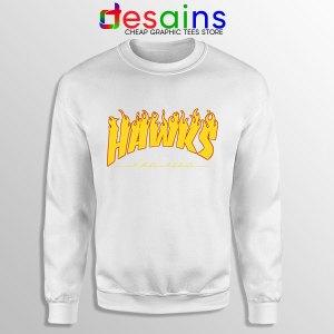 Hawks Logo Parody White Sweatshirt My Hero Academia