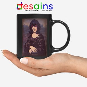 New Wave Mona Lisa Black Mug Ramona