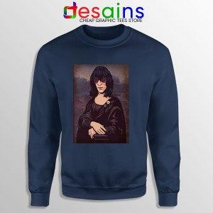 New Wave Mona Lisa Navy Sweatshirt Ramona