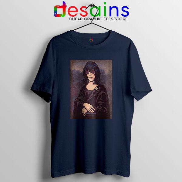 New Wave Mona Lisa Navy T Shirt Ramona