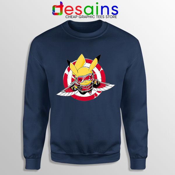 The Falcon Pikachu Navy Sweatshirt Funny Pokemon