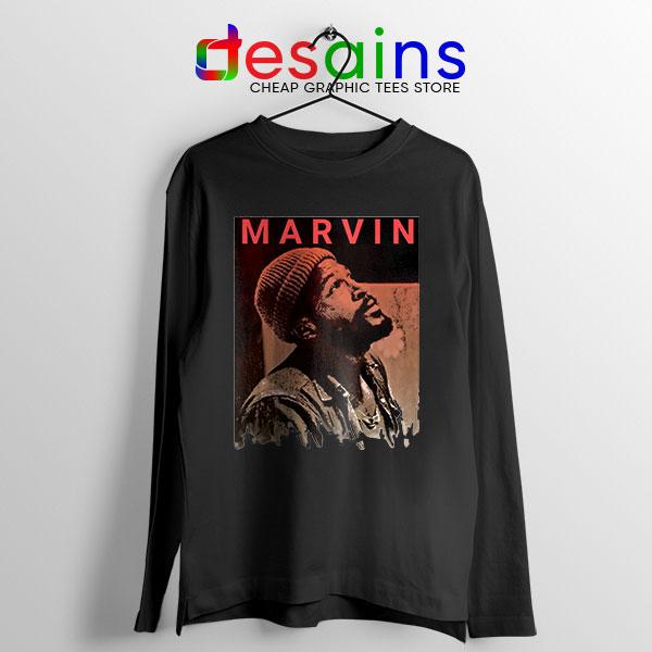 Best Marvin Gaye Tribute Black Long Sleeve Tee Soul Singer