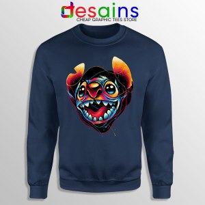 Colorful Stitch Disney Navy Sweatshirt Lilo & Stitch
