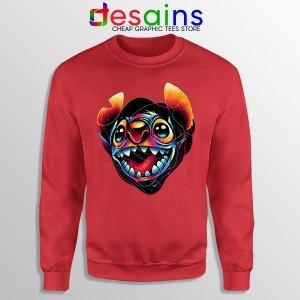 Colorful Stitch Disney Red Sweatshirt Lilo & Stitch