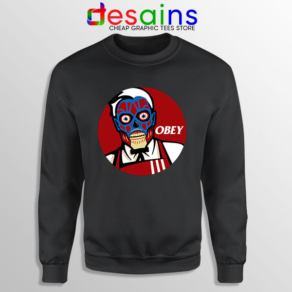 Funny Obey KFC Skull Sweatshirt Face Bones Logo