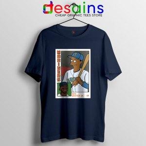 Ken Griffey Jr Homer Simpson Navy T Shirt Mariners MLB