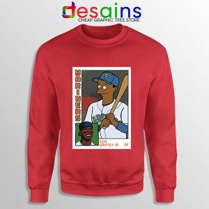 Ken Griffey Jr Homer Simpson Red Sweatshirt Mariners MLB