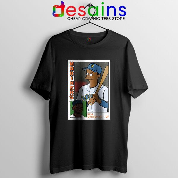 Ken Griffey Jr Homer Simpson T Shirt Mariners MLB