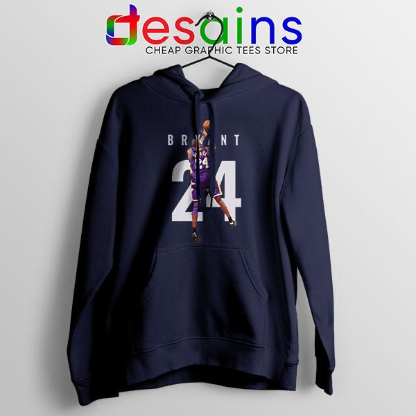 Kobe Bryant 24 Best Dunk Navy Hoodie Legend NBA