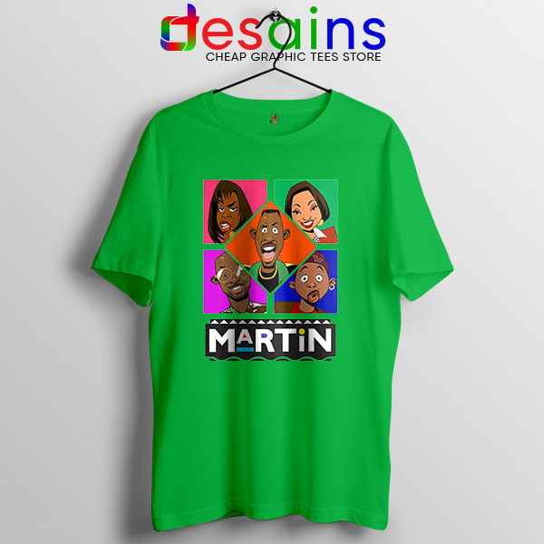 Martin TV Show Characters Green T Shirt Sitcom