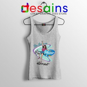 Pfizer This Girl Is On SPort Grey Tank Top Stephanie Miller Show