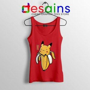 Pikachu Memes Banana Red Tank Top Cute Pokemon