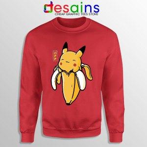 Pikachu Memes Banana Sweatshirt Cute Pokemon