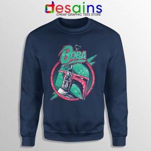 Star Wars Boba Fett Navy Sweatshirt The Mandalorian