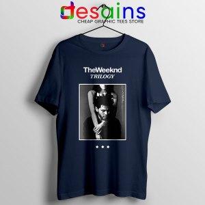 Trilogy The Weeknd Album Cover Navy T Shirt XO