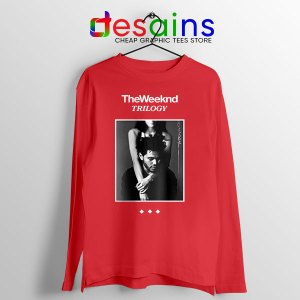 Trilogy The Weeknd Album Cover Red Long Sleeve Tee XO