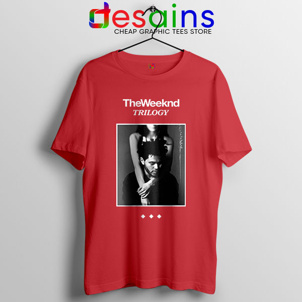 Trilogy The Weeknd Album Cover Red T Shirt XO