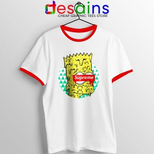 Bart Simpson in Fashion Red Ringer Tee The Simpsons