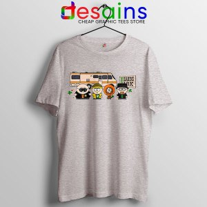 Breaking Bad Characters Animated Sport Grey T Shirt South Park