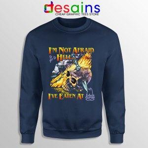 Hell Arbys Menu Breakfast Navy Sweatshirt Im Not Afraid
