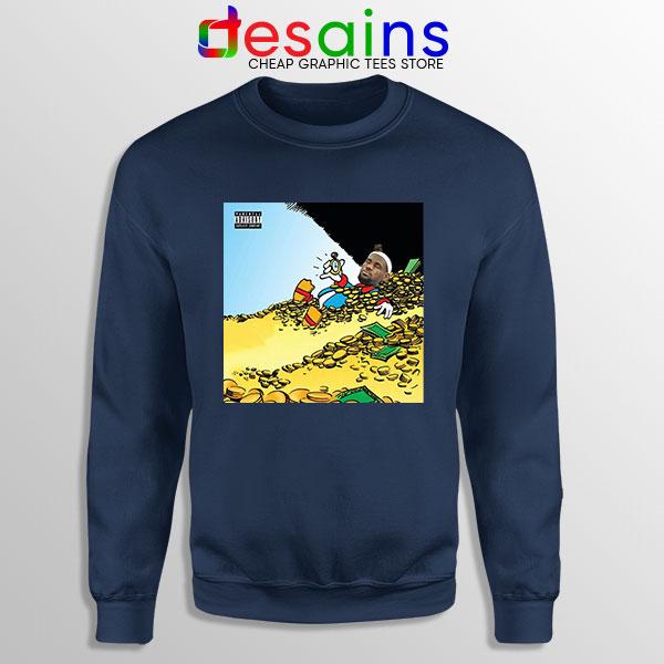 Mach Hommy X ThaGodFahim Navy Sweatshirt Dollar Menu 2